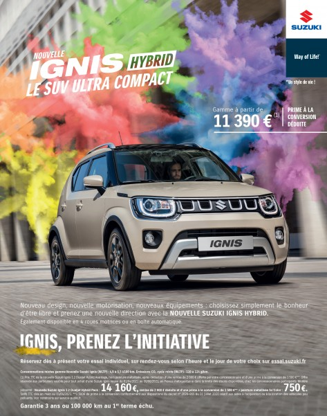 Nouvelle Ignis Hybrid ! Le SUV Ultra compact